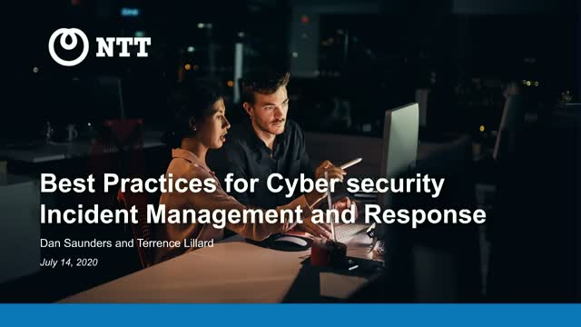 Best practices for cybersecurity incident management and response