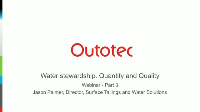 Water stewardship. Quantity and Quality - session 3