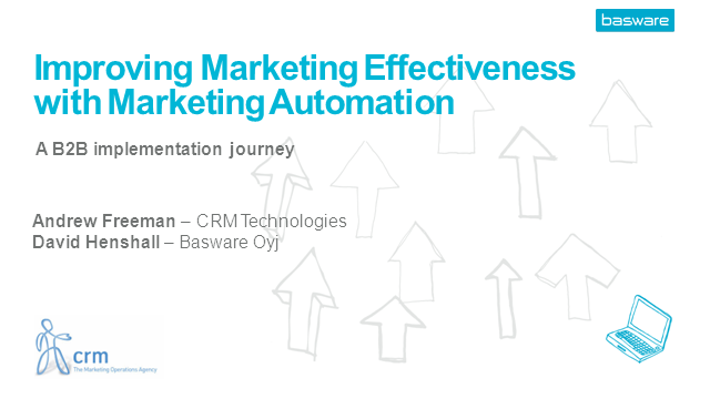 Improving marketing effectiveness with marketing automation