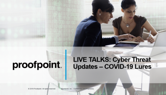 LIVE TALKS: Cyber Threat Updates - COVID-19 Lures on April 27th, 2020
