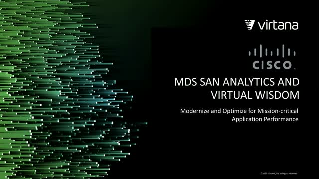 Take Advantage of Cisco MDS SAN Analytics for Application Performance