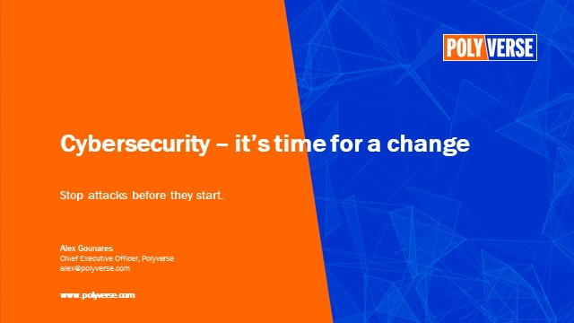 Cybersecurity - it's time for a change
