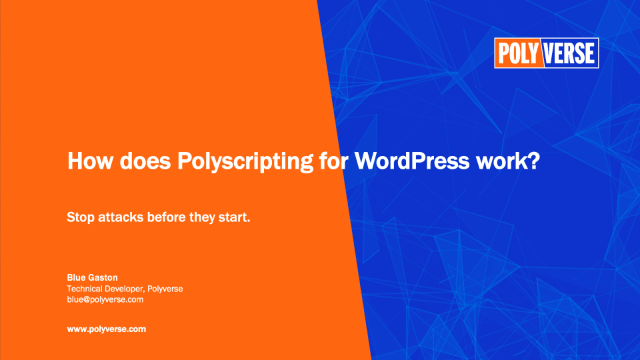 How does Polyscripting for WordPress work?