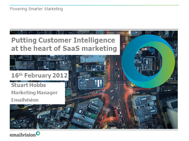 Putting Customer Intelligence at the Heart of SaaS Marketing