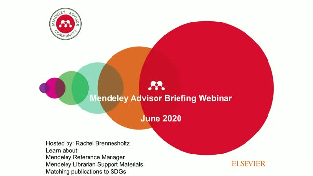 June Mendeley Advisor Briefing