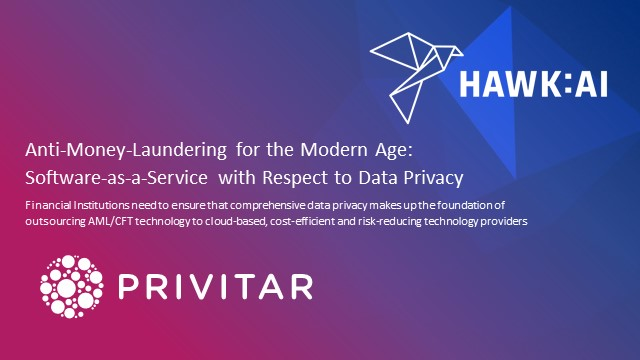 Anti-Money-Laundering for the Modern Age: SaaS and Respecting Data Privacy