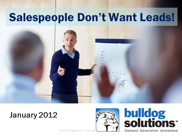 Sales people don't want leads! Is this why they won't follow up on my leads?