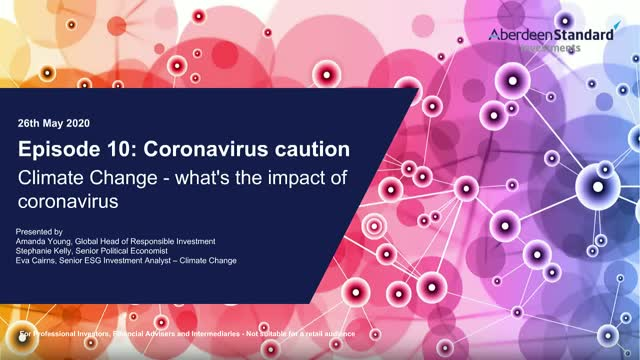 Climate Change - what's the impact of coronavirus