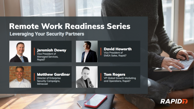 [Panel Talk] Remote Work Readiness: Leveraging Your Security Partners