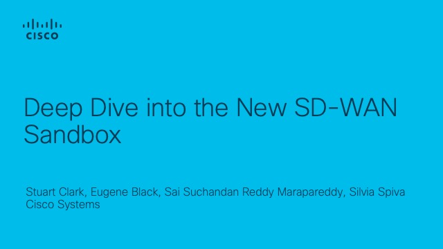 Deep Dive into the new SD-WAN Sandbox