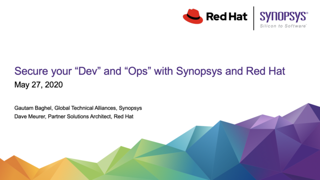 """Secure your """"Dev"""" and """"Ops"""" Pipeline with Synopsys and Red Hat"""
