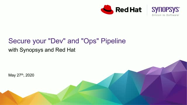 "Secure your ""Dev"" and ""Ops"" Pipeline with Synopsys and Red Hat"