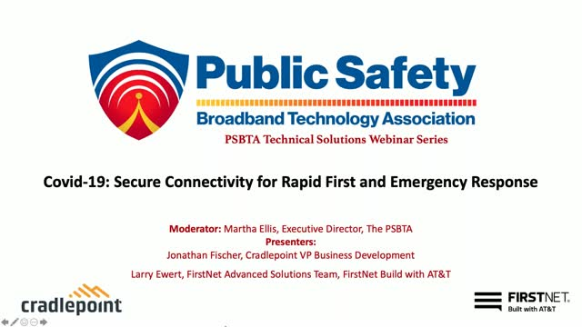COVID-19: Secure Connectivity for Rapid First and Emergency Response