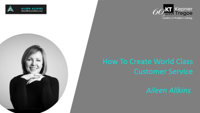 How To Create World Class Customer Service - Lessons from Aileen Allkins