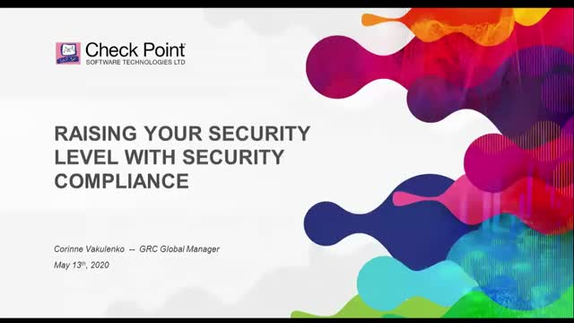 Raising your security level with security compliance (Session 1)