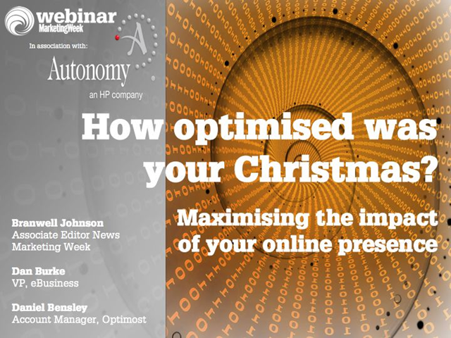 How Optimised was your Christmas? Maximising the impact of your online presence