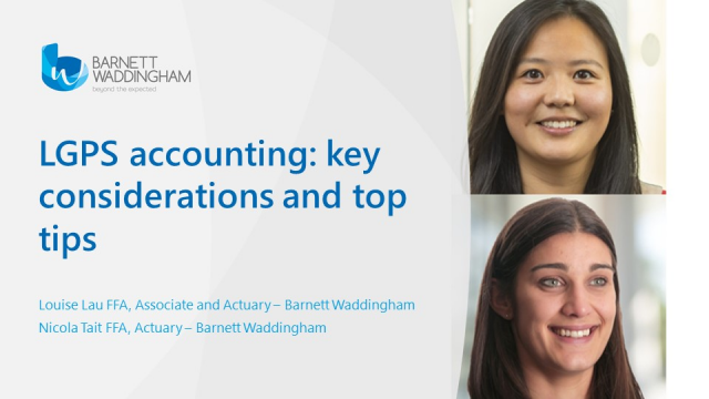 LGPS accounting: key considerations and top tips