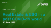 DWS ESG TALKS - REAL ESTATE AND ESG IN A POST-COVID-19 WORLD