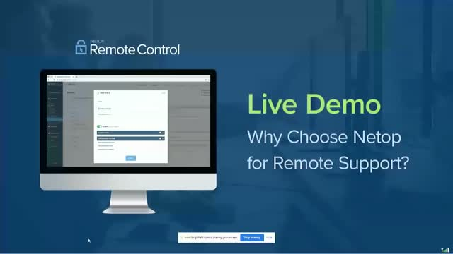 Demo: Why Choose Netop for Remote Support?