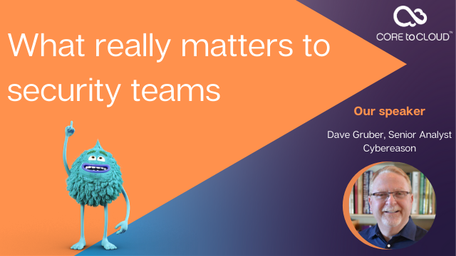 What really matters to security teams?