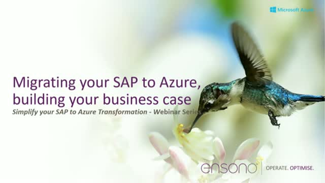 Migrating your SAP to Azure, Building your Business Case