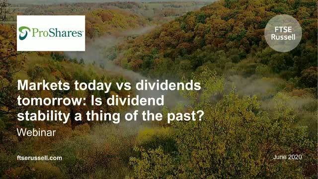 Markets today vs dividends tomorrow: Is dividend stability a thing of the past?