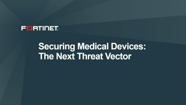 Securing Medical Devices - The Next Threat Vector