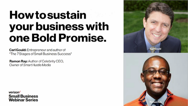 How to sustain your business with one bold promise.
