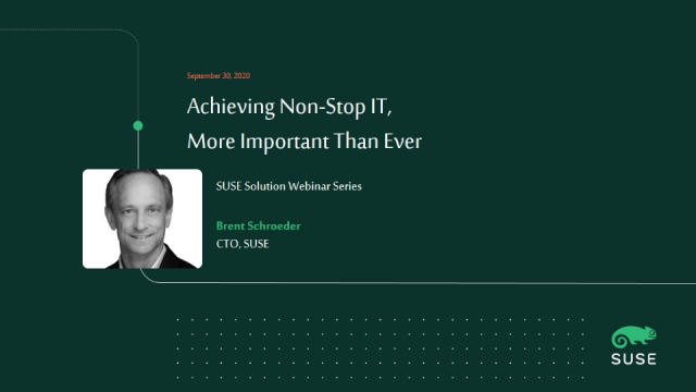 Achieving Non-Stop IT, More Important Than Ever