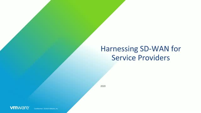 How VMware SD-WAN works with Service Providers to bring SD-WAN to customers