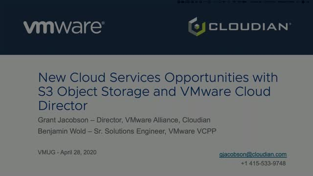 New Cloud Services Opportunities w/ S3 Object Storage and VMware Cloud Director