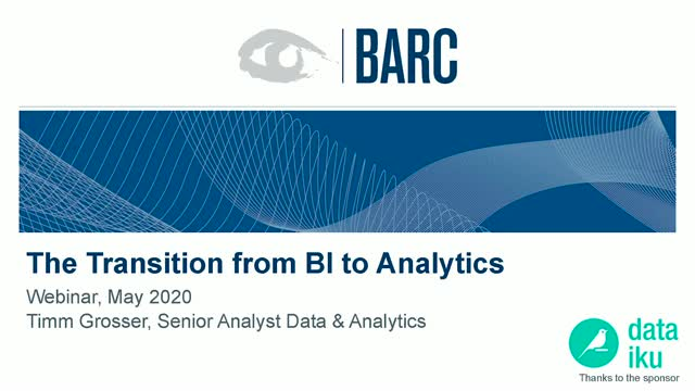 Transition from Business Intelligence (BI) to Analytics