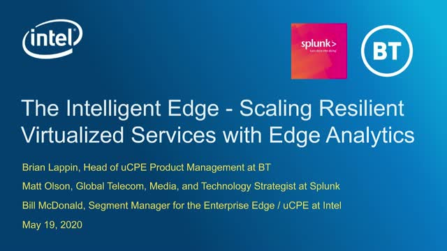 The Intelligent Edge -Scaling resilient virtualized services with Edge Analytics