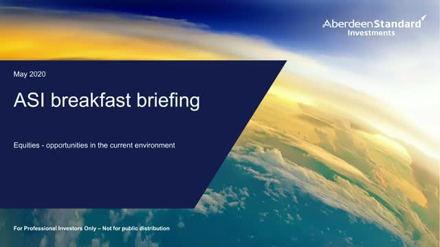 ASI breakfast briefing - equities: opportunities in the current environment