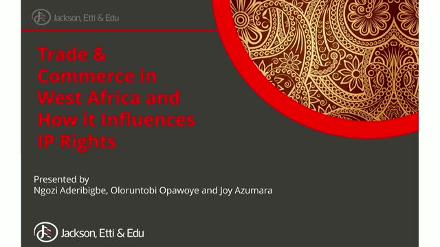 Trade and commerce in West Africa and how it influences IP rights