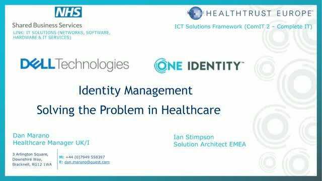 Identity Management: Solving the Problem in Healthcare.