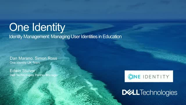 Managing user identities in Education