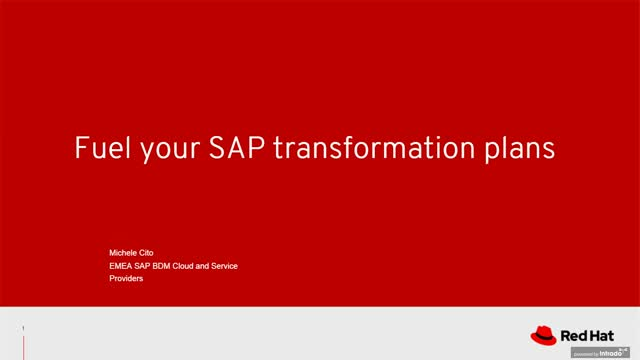 Fuel your SAP transformation plan