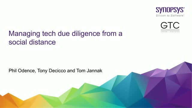 Managing Tech Due Diligence From a Social Distance