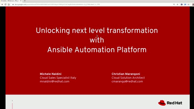 Unlocking next level transformation with Ansible Automation Platform [RP1]