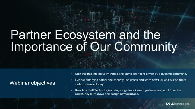 Partner Ecosystem and the 'Importance of Our Community'