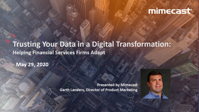 Trusting Your Data in a Digital Transformation