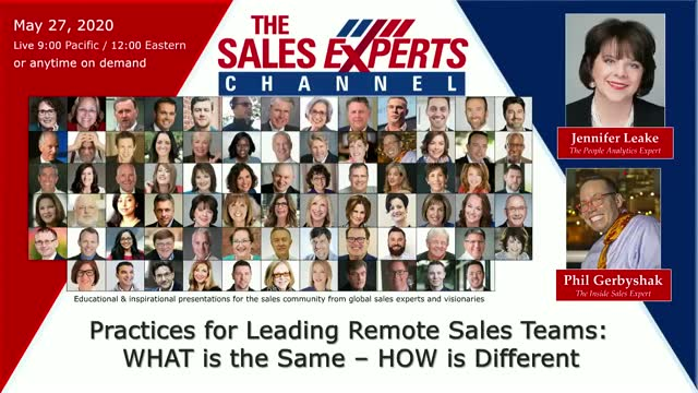 Practices for Leading Remote Sales Teams: WHAT is the Same–HOW is Different