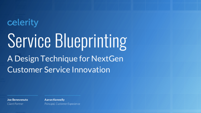 Service Blueprinting: A Design Technique for NextGen Customer Service Innovation