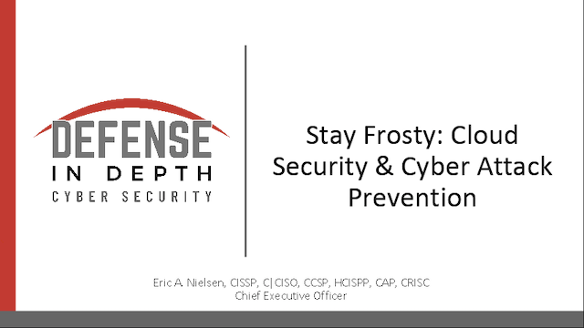 Stay Frosty: Cloud Security & Cyber Attack Prevention