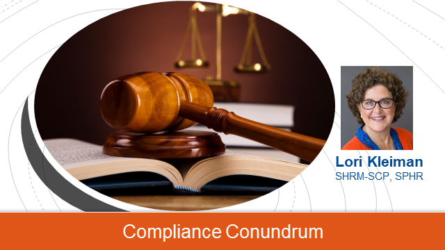 Which side of the law are you on?  HR Compliance Basics today!