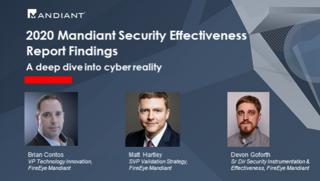2020 Mandiant Security Effectiveness Report Findings