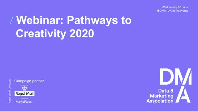 Webinar: Pathways to Creativity 2020