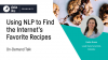 Using NLP to Find the Internet's Favorite Recipes
