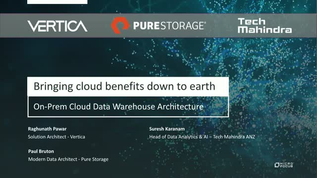 Bringing Cloud Benefits Down To Earth: On-Prem Cloud Data Warehouse Architecture